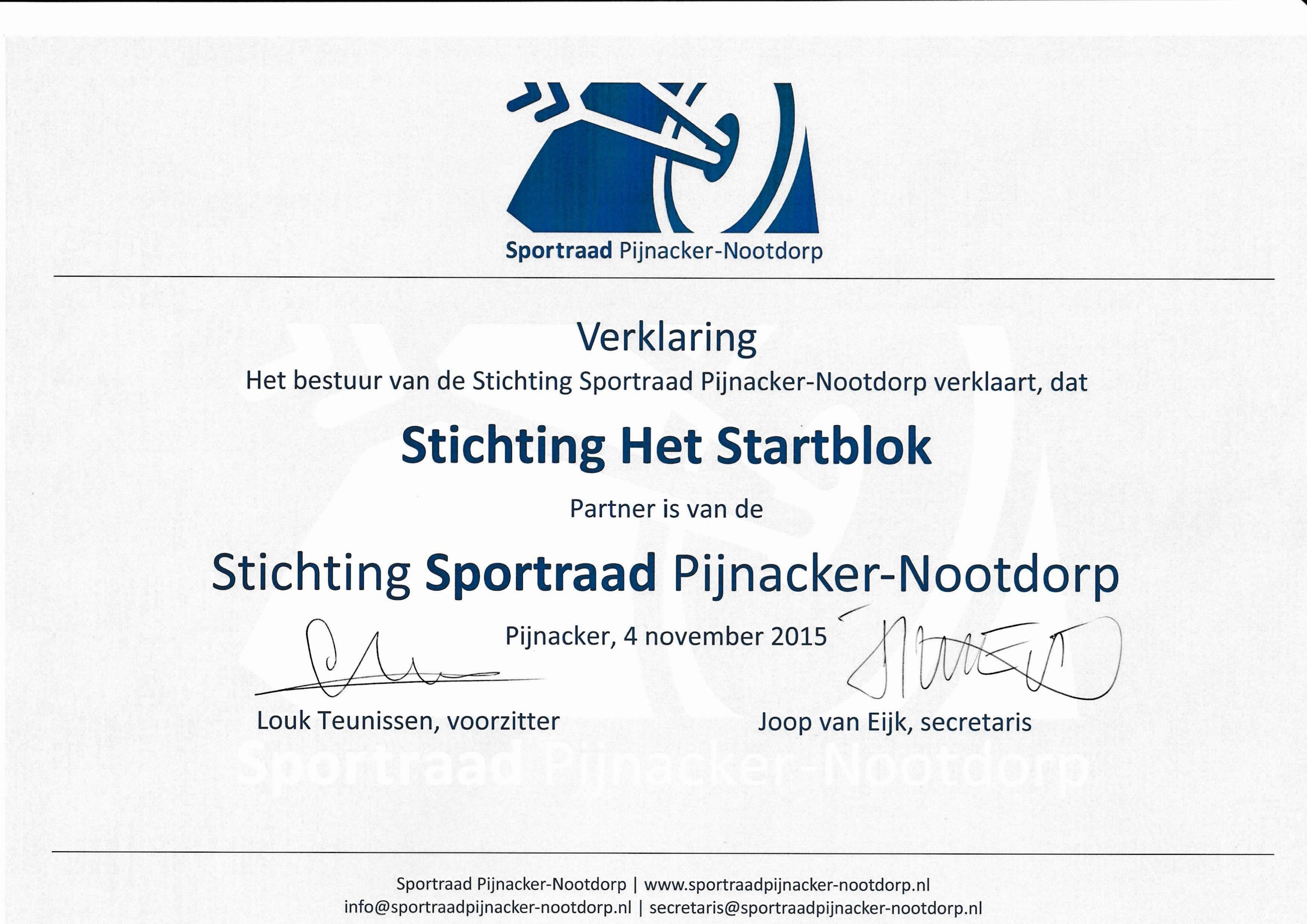 Stichting Sportraad Pijnacker Nootdorp